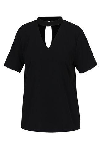 Bluza neagra cu model choker Jacqueline de Yong Aida