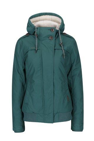 Geaca verde de iarna cu gluga pentru femei - Ragwear Ewok