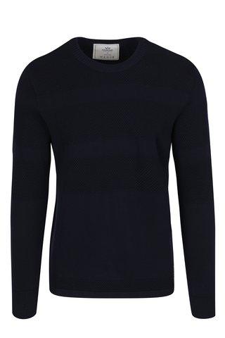 Tmavě modrý svetr se vzorem Kronstadt Hannes