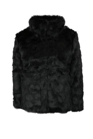 Černý holčičí kabát z umělé kožešiny name it Melisa