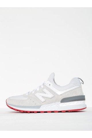 Pantofi sport albi pentru femei - New Balance 574