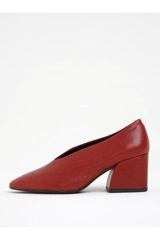 Pantofi rosii din piele Vagabond Olivia