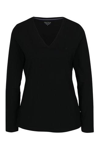 Bluza neagra cu decolteu encoeur Nautica
