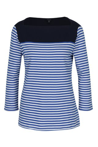 Bluza albastra cu decolteu barcuta Nautica