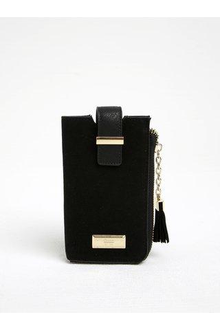 Husa neagra pentru smartphone cu buzunar pentru carduri Gionni Viollette