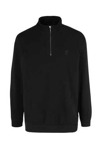 Pulover negru cu fermoar pentru barbati JP 1880