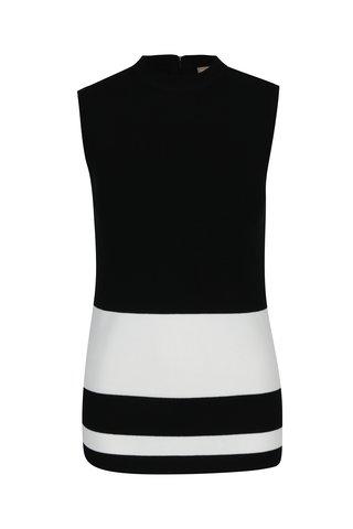 Top negru tricotat cu dungi albe M&Co
