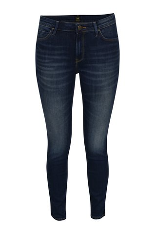 Tmavě modré dámské zkrácené super skinny džíny Lee Jodee