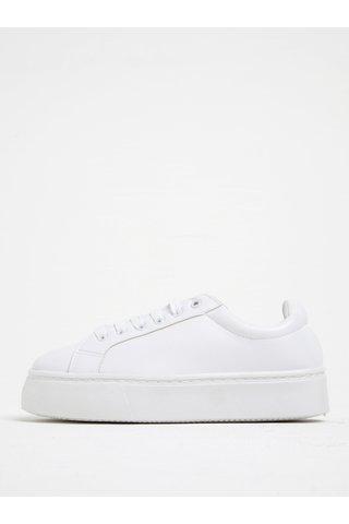 Pantofi sport albi cu platforma - Pieces Monet