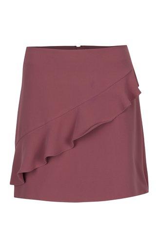 Starorůžová sukně s volánem VILA Nadja