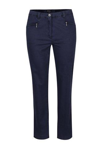 Pantaloni drepti bleumarin cu talie elastica Ulla Popken