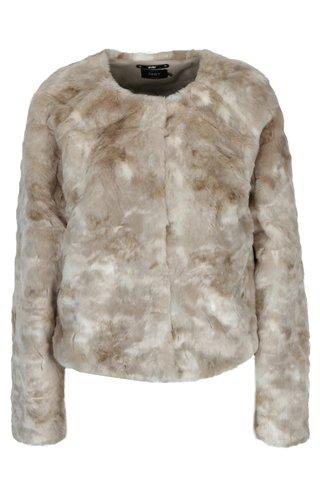 Jacheta din blana artificiala bej ONLY Winnie