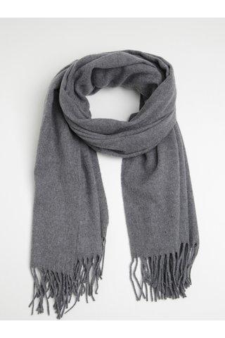 Esarfa gri din amestec de lana Pieces Jira