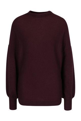 Vínový svetr s netopýřími rukávy VILA Noma