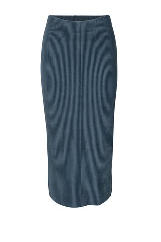 Fusta albastra din catifea Selected Femme Velva