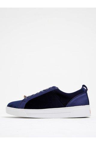 Pantofi sport albastri din catifea - Ted Baker Kulei