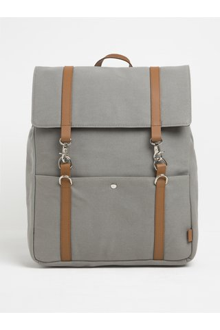 Šedý batoh s karabinami Enter Cabin Backpack 18 l