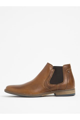 Hnědé pánské kožené chelsea boty Bullboxer