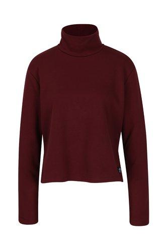 Bluza rosu bordo cu guler inalt - Cheap Monday