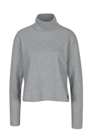 Bluza gri cu guler inalt din amestec de bumbac organic - Cheap Monday