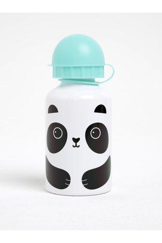Zeleno-bílá láhev s pandou Sass & Belle Aiko Panda Kawaii