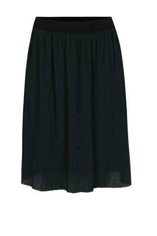 Fusta verde plisata cu talie elastica VERO MODA Mila