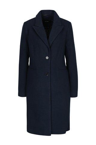 Palton bleumarin din amestec de lana VERO MODA Blaza