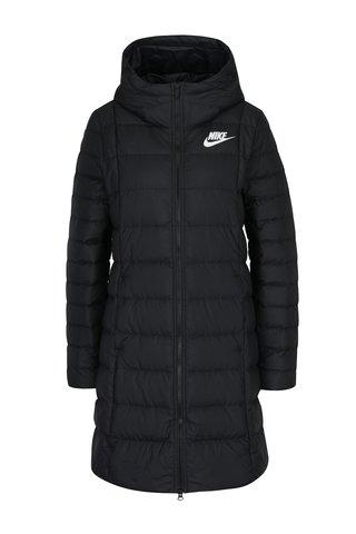 Černý dámský prošívaný péřový kabát Nike Sportswear Fill