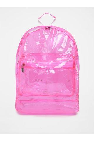 Rucsac roz transparent pentru femei Mi-Pac Transparent 17 l