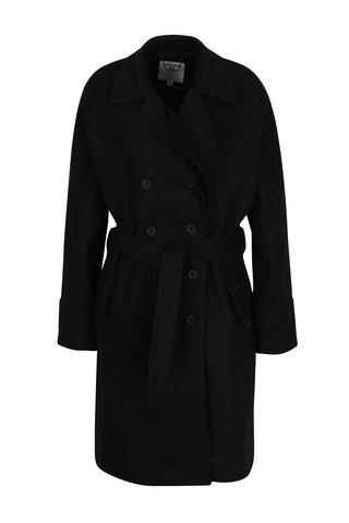 Palton negru pentru femei cu 2 randuri de nasturi Garcia Jeans