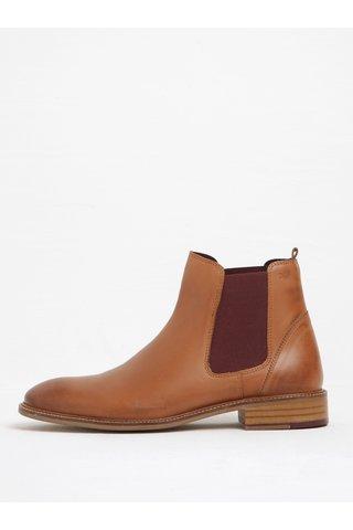 Hnědé kožené chelsea boty London Brogues Hamilton