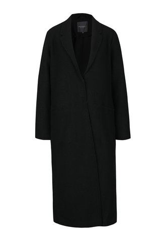 Palton negru lung Broadway Malea