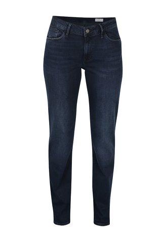 Blugi albastri cu talie inalta regular fit Cross Jeans