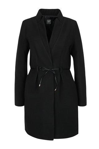Černý kabát s tenkým páskem  ZOOT