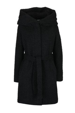 Palton boucle negru cu gluga ampla - VILA Cama