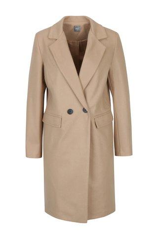 Palton bej cu revere si buzunare - ZOOT