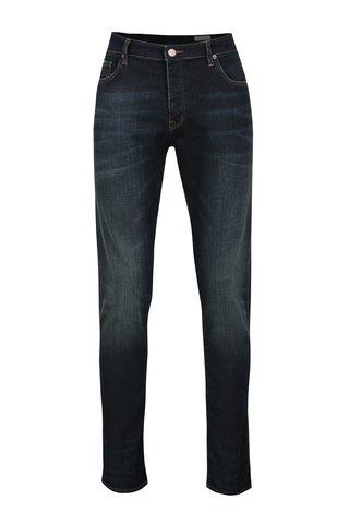 Blugi albastru inchis cu aspect decolorat Cross Jeans