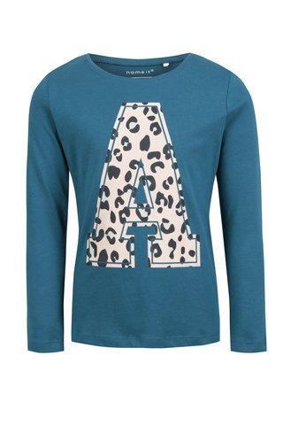 Modré holčičí tričko s potiskem name it Veen