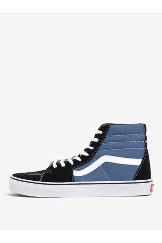 Černo-modré pánské semišové kotníkové tenisky Vans SK8-Hi