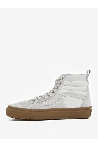 Pantofi sport inalti gri din piele intoarsa pentru femei - VANS SK8-Hi 46