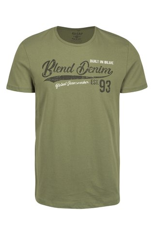 Khaki slim fit  tričko s potiskem Blend