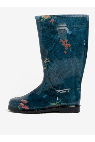 Cizme de ploaie albastre cu aspect de denim - Oldcom Rain