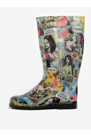 Cizme de ploaie cu print pop art - Oldcom Rain