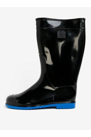 Cizme de ploaie negre cu aspect lacuit- Oldcom Accent