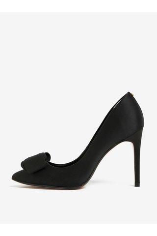 Pantofi negri cu toc cui si funda decorativa -  Ted Baker Azeline