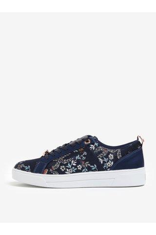 Pantofi sport bleumarin cu broderie florala fina - Ted Baker Sorcey