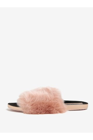 Papuci roz cu blana artificiala - Ted Baker Pancey
