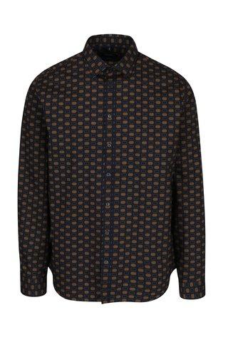 Camasa bleumarin & maro tailored fit pentru barbati - Seidensticker
