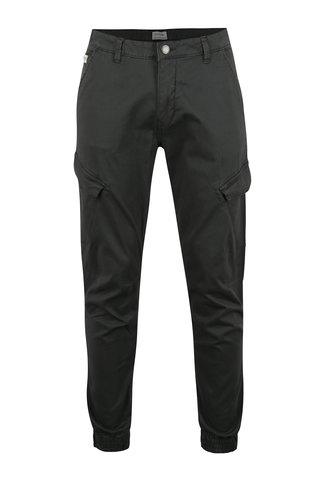 Pantaloni cargo gri inchis din bumbac - Shine Original