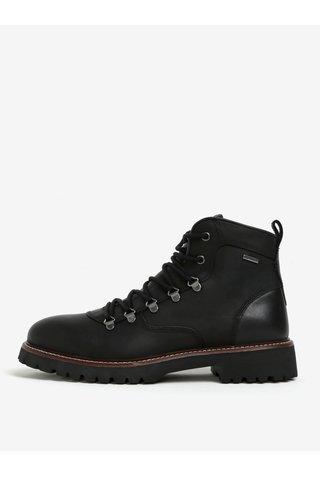 Černé pánské kožené voděodpudivé boty Geox Kieven ABX